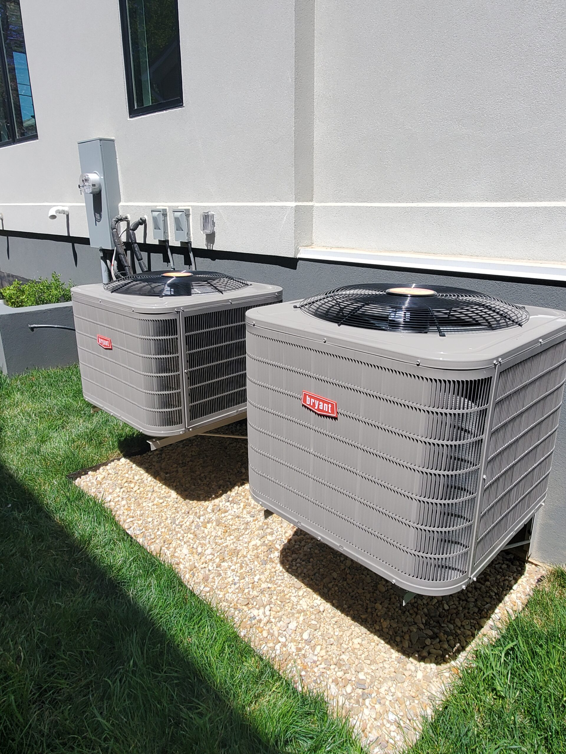 hvac units attached to a home